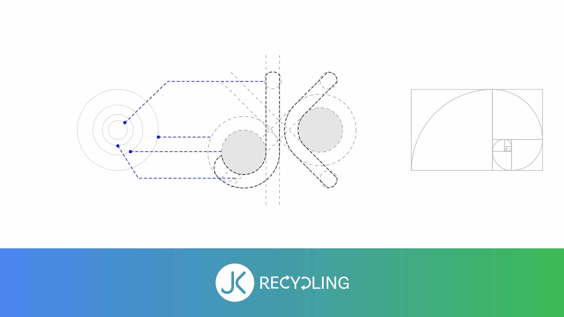 Recycling Industry Logo Design With Golden Ratio 02