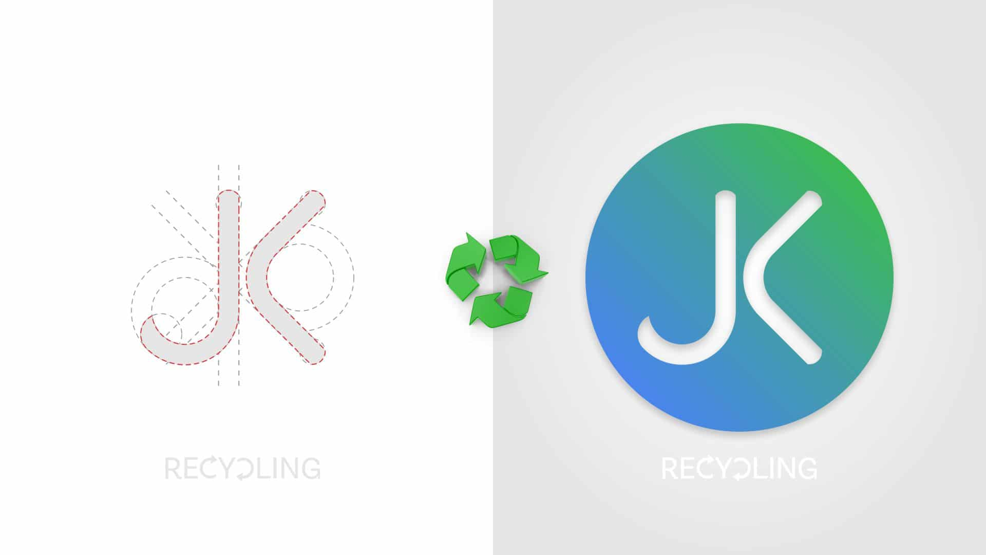 Recycling Industry Logo Design With Golden Ratio